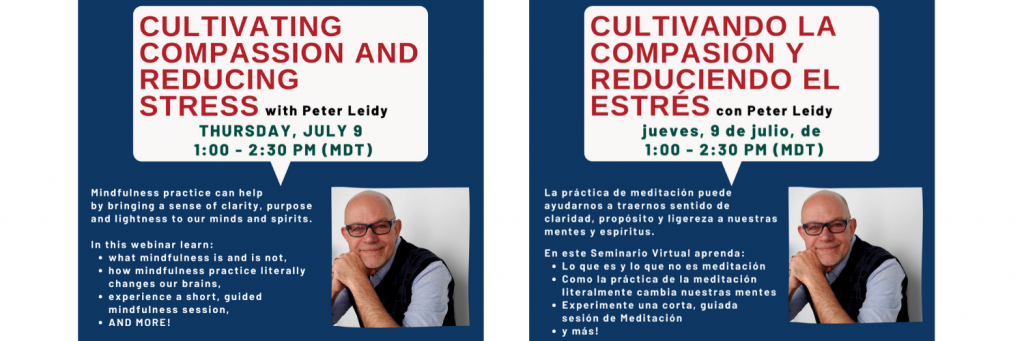 Cultivating Compassion and Reducing Stress Webinar Information