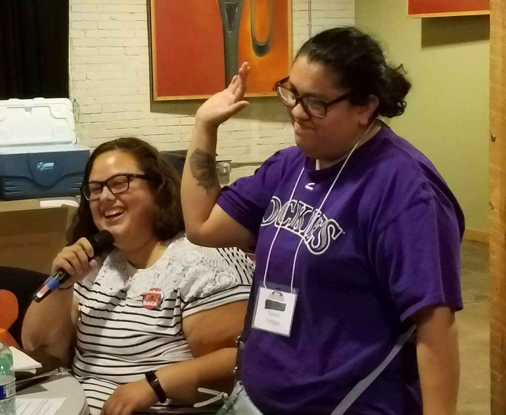 Isamar Venegas, Self-Advocate, Payette and interpreter, Cris Cuevas